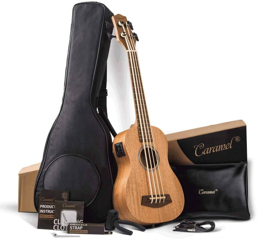 Caramel-CUB402-Electric-30-inch-All-Solid-Mahogany-Ukulele-Bass