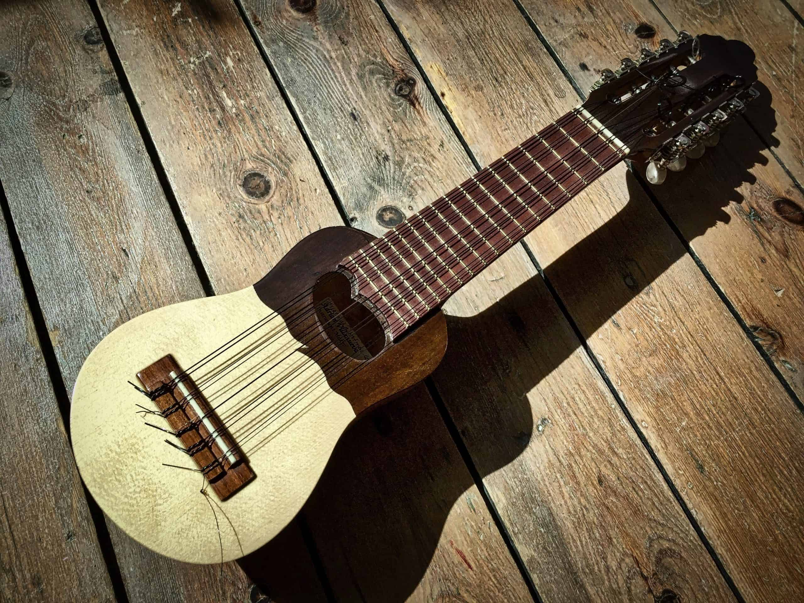 A beautiful looking charango instrument.