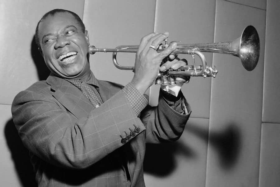 Louis Armstrong Playing The Most Popular of Jazz Instrumets, Trumpet