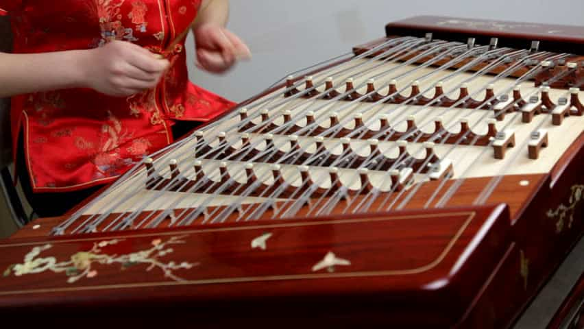 chinese musical instrument yangqin