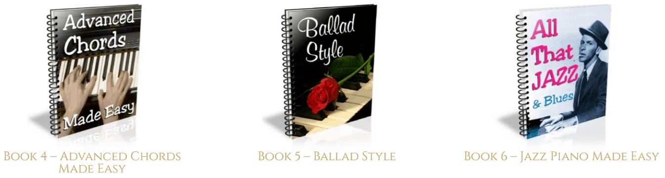 Pianoforall books 4, 5, and 6.