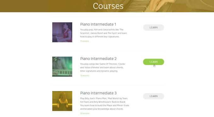 Skoove review intermediate course.