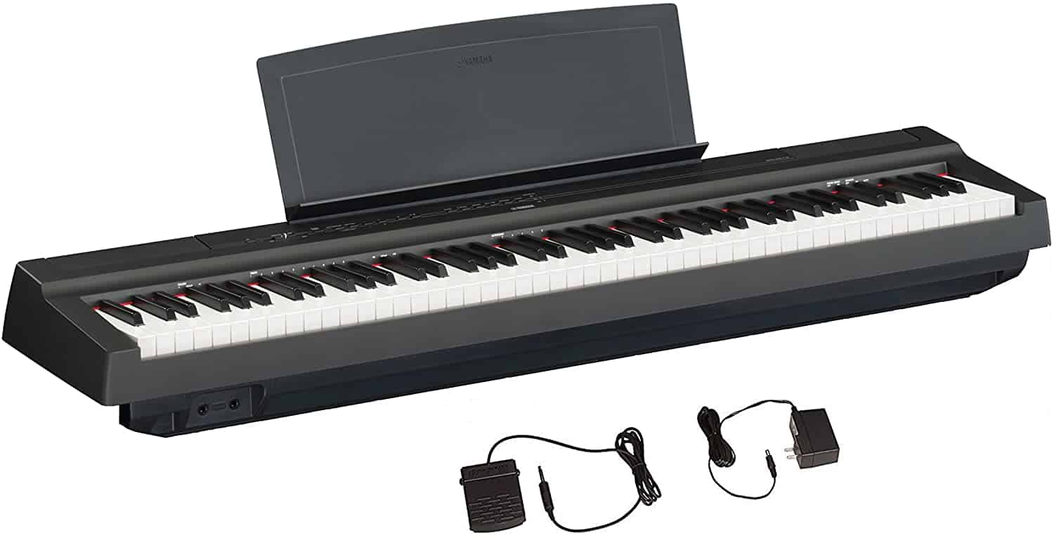 YAMAHA P125 88-Key Weighted Action Digital Piano With Power Supply And Sustain Pedal.