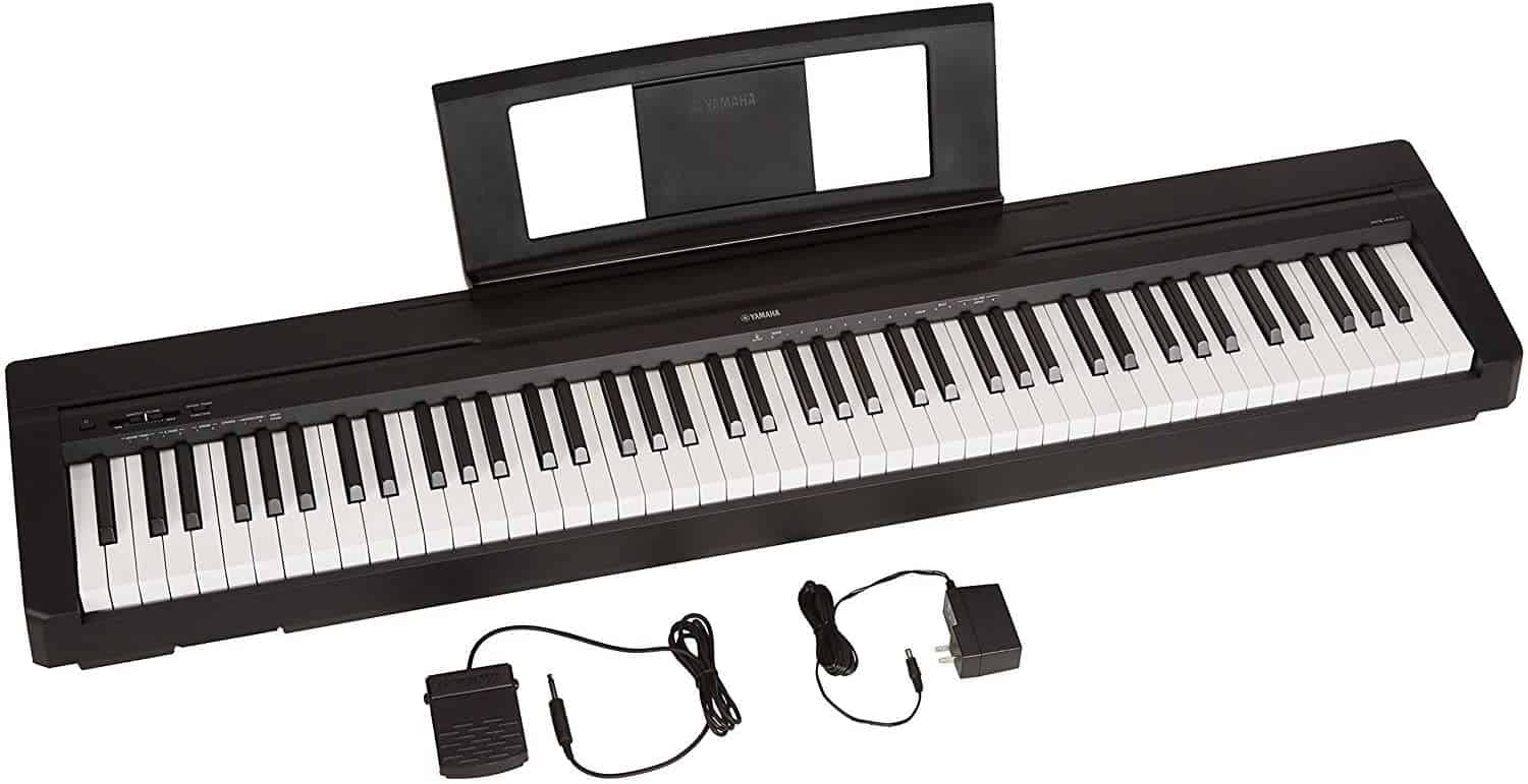 YAMAHA P71 88-Key Weighted Action Digital Piano With Sustain Pedal And Power Supply (Amazon-Exclusive).
