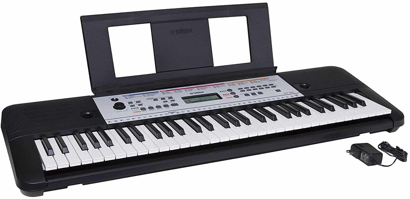 YAMAHA YPT260 61-Key Portable Keyboard With Power Adapter (Amazon-Exclusive).