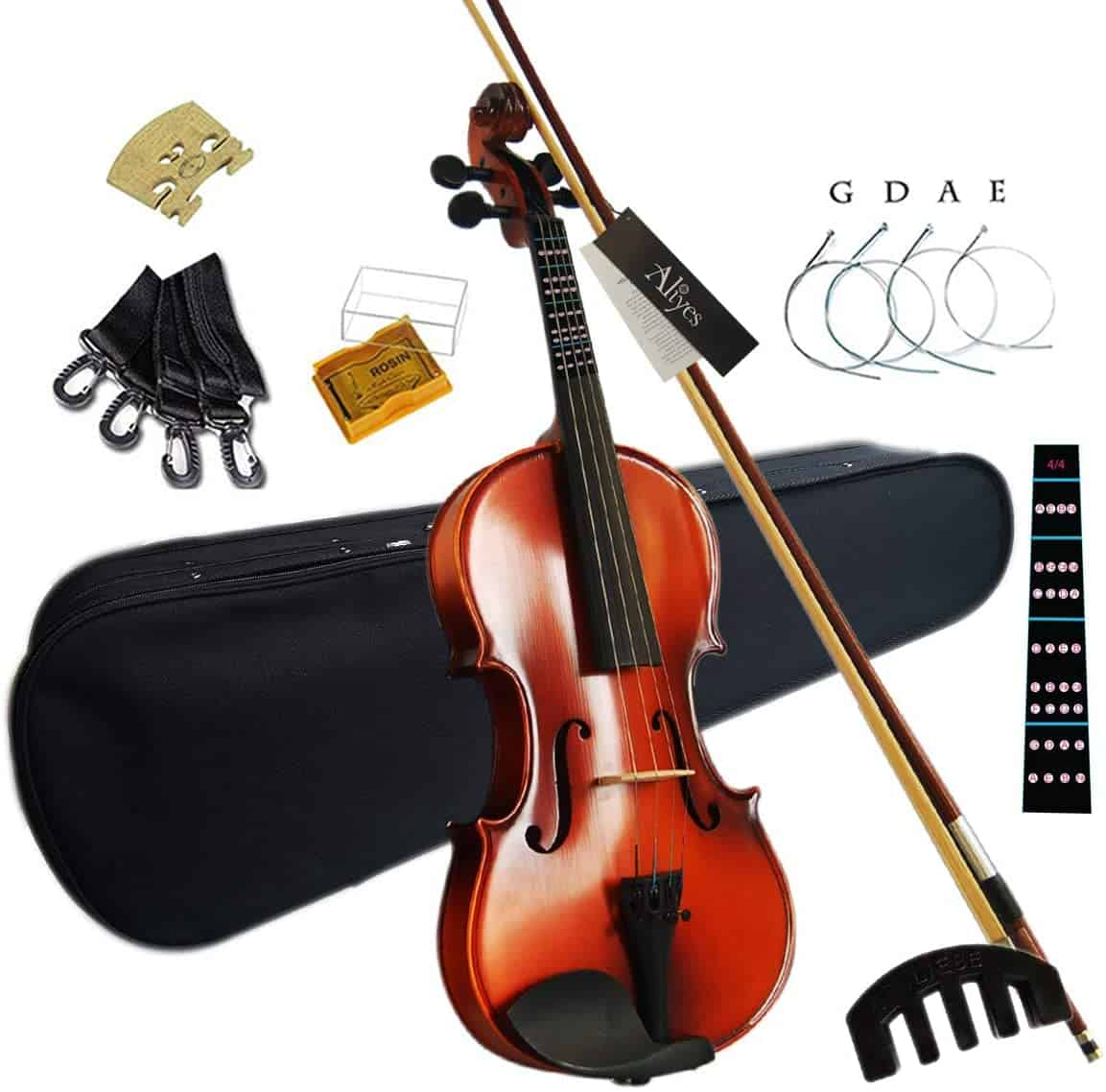 Aliyes Solid Wood Violin Designed for Beginners and Students.