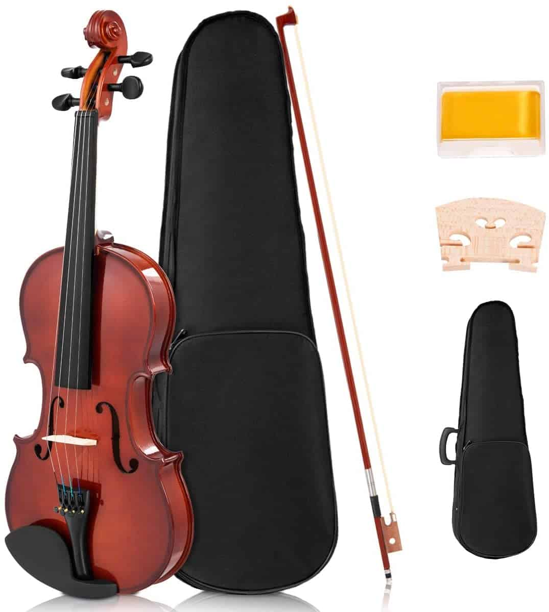 Costzon Full Size 4/4 Solid Wood Violin for Beginners.