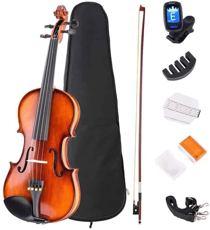 JMFinger 4/4 Full-Size beginner Violin Set