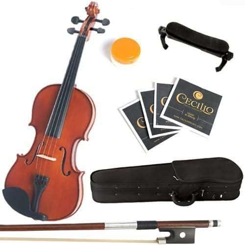Mendini 3/4 MV200 Solid Wood Natural Varnish Violin.