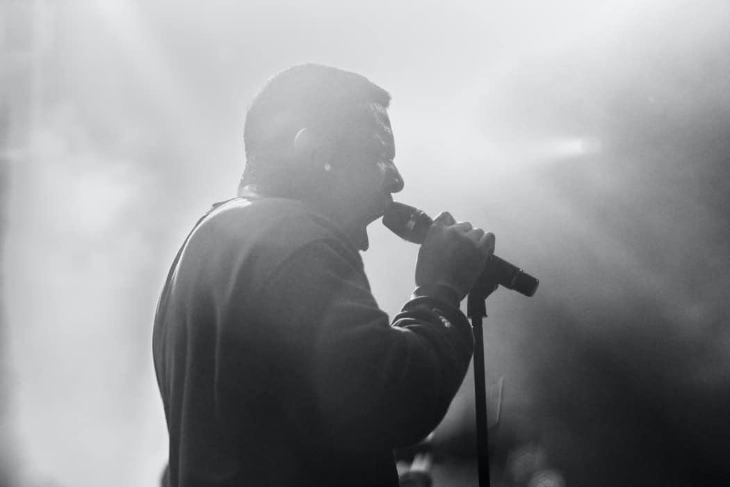 Man singing.