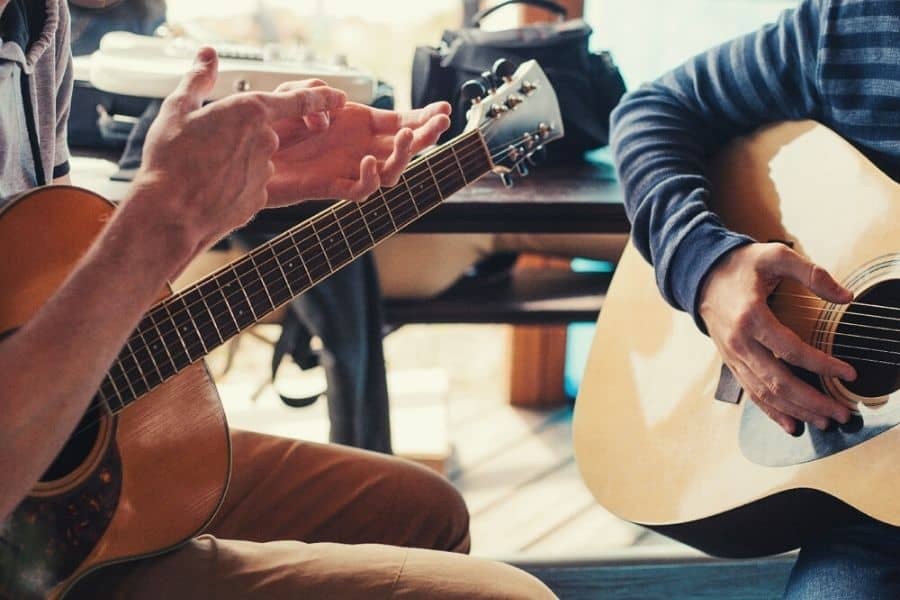 Private guitar lessons.