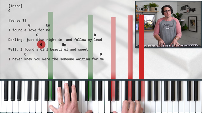 Piano in 21 Days Learning Interface.