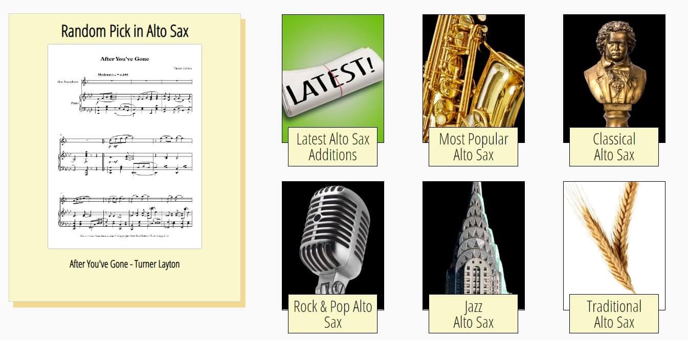 8Notes online music saxophone website