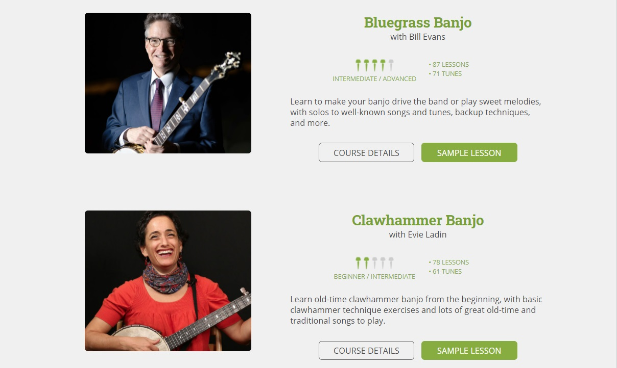Peghead Nation online music education platform with online banjo lessons for beginners and intermediate players