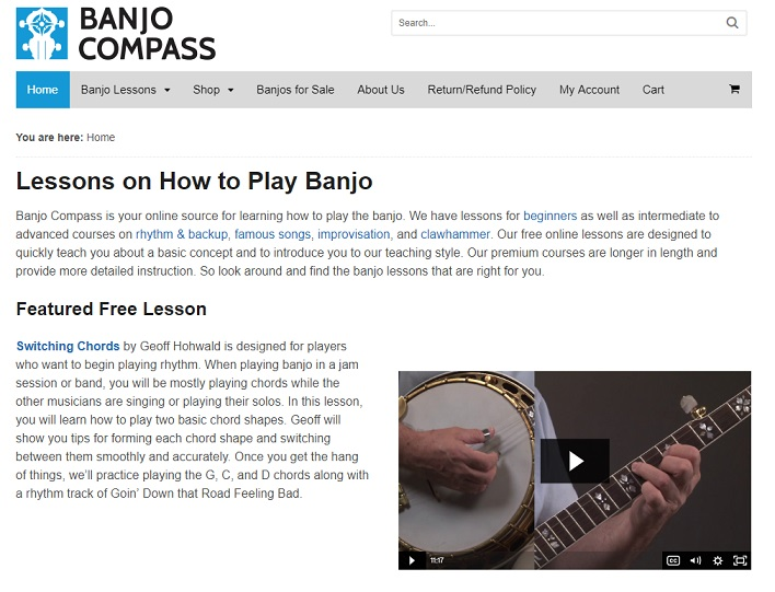 Banjo Compass a way to learn how to play banjo online