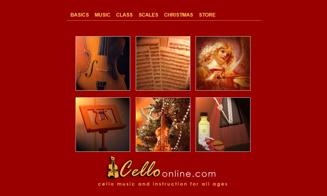 Cello Online music learning website - a cello music instruction for all ages