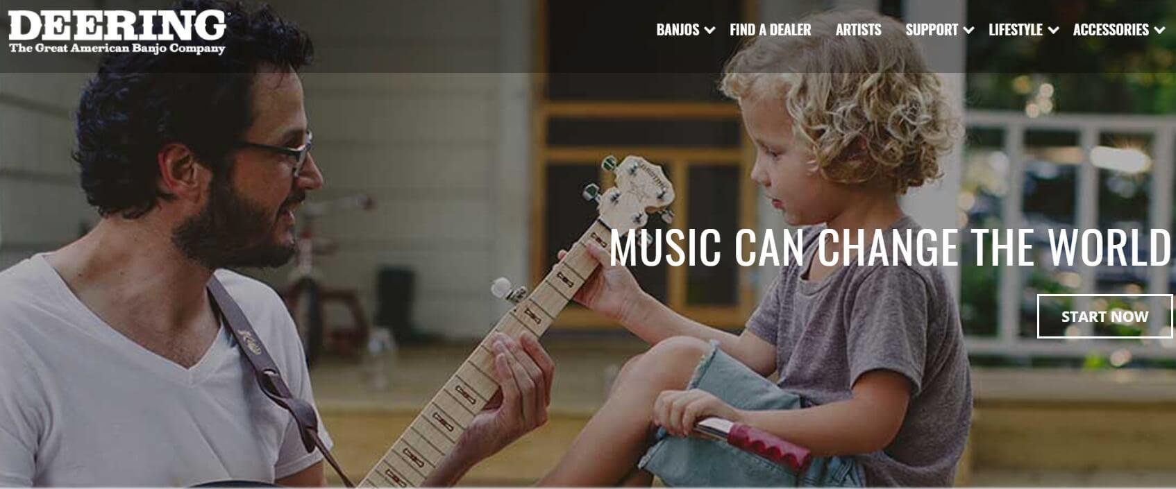 Deering online music banjo community with online banjo lessons