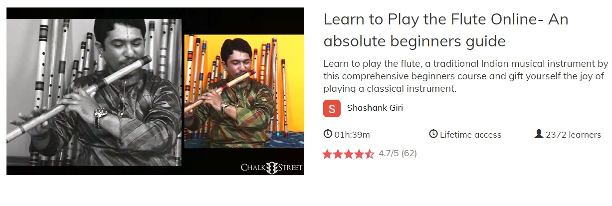 Flute Chalk with Shashank Giri online Indian flute lessons with