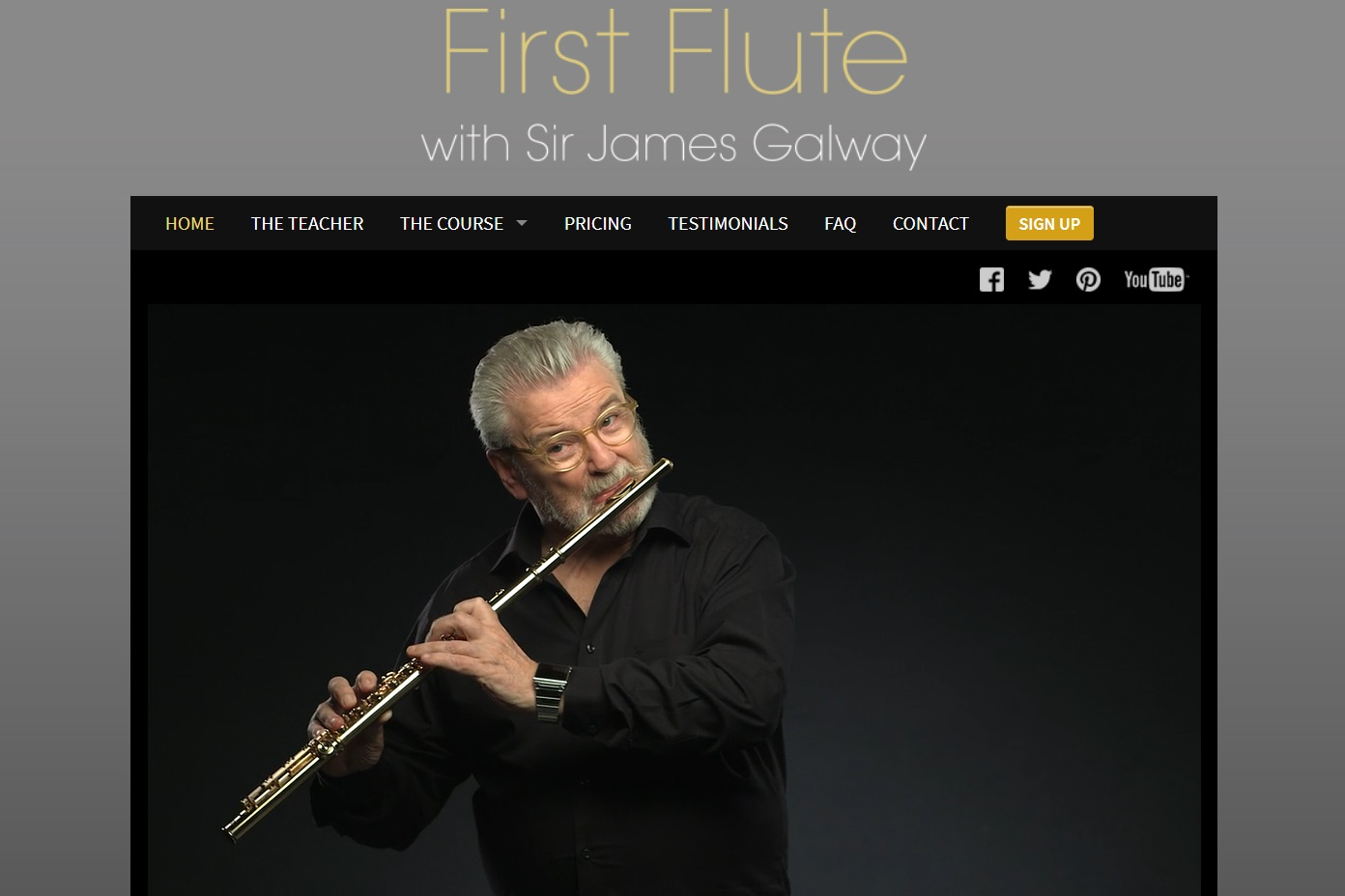 Online flute lessons with James Galway