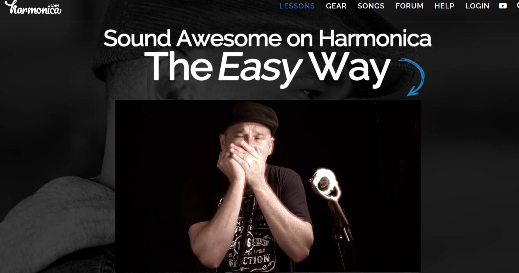 Harmonica.com platform with online harmonica courses