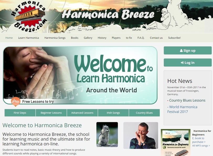Harmonica Breeze online classes