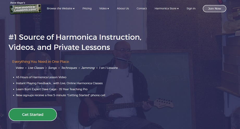 Online harmonica lessons with David Gage