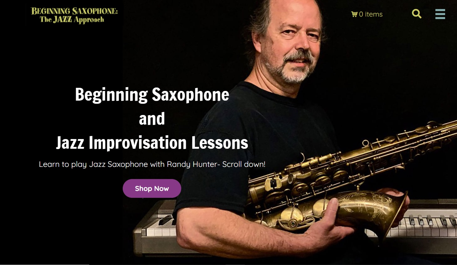 Beginning Saxophone and Jazz improvisation lessons with Randy Hunter