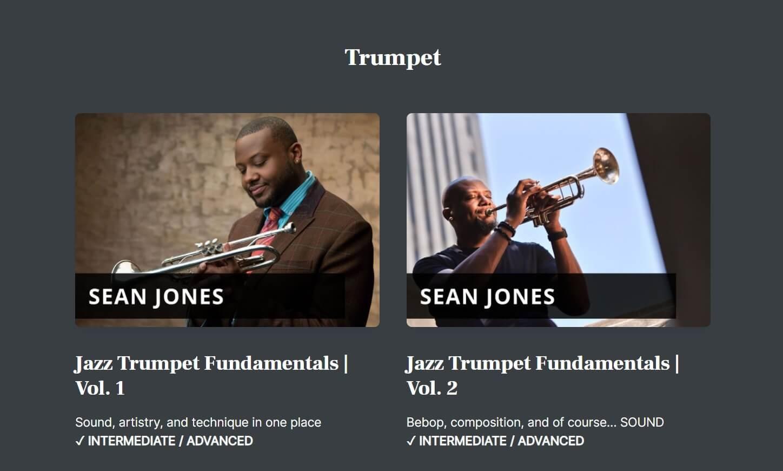 Open Studio jazz trumpet online learning program with Sean Jones