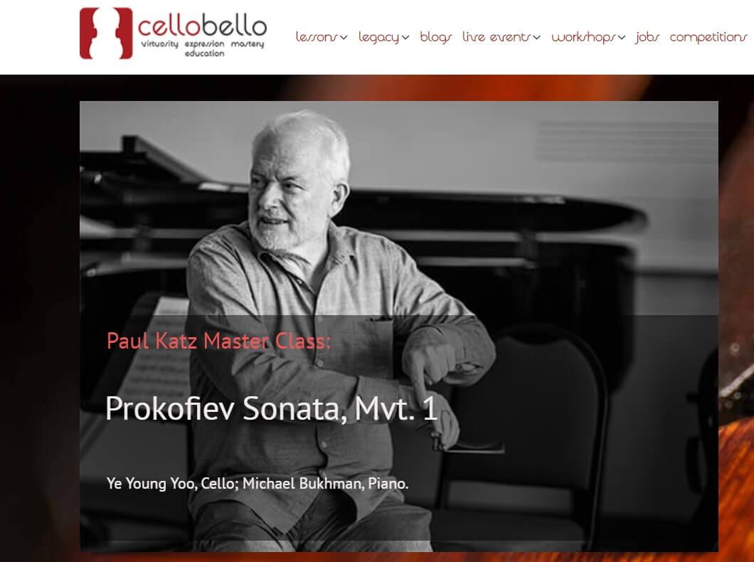 Cellobello online cello courses and masterclasses by Paul Katz