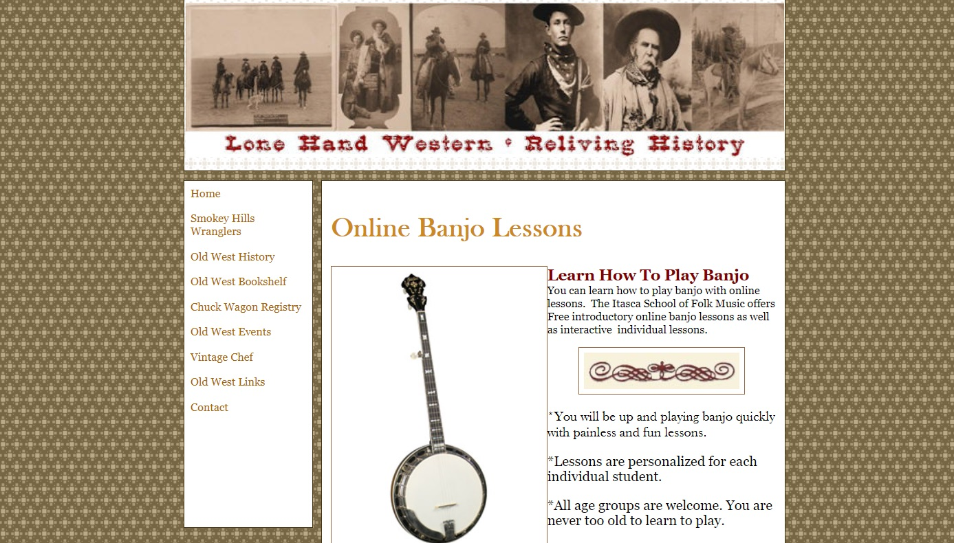 Lone Hand online banjo music school