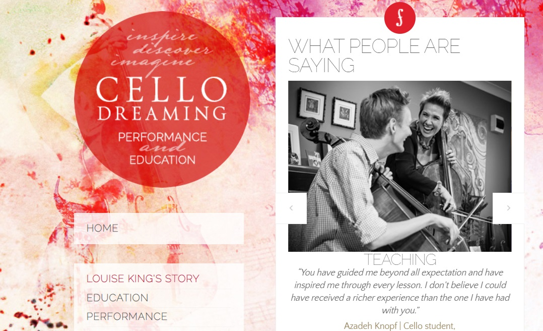 Cello Dreaming online cello learning website by Louise King