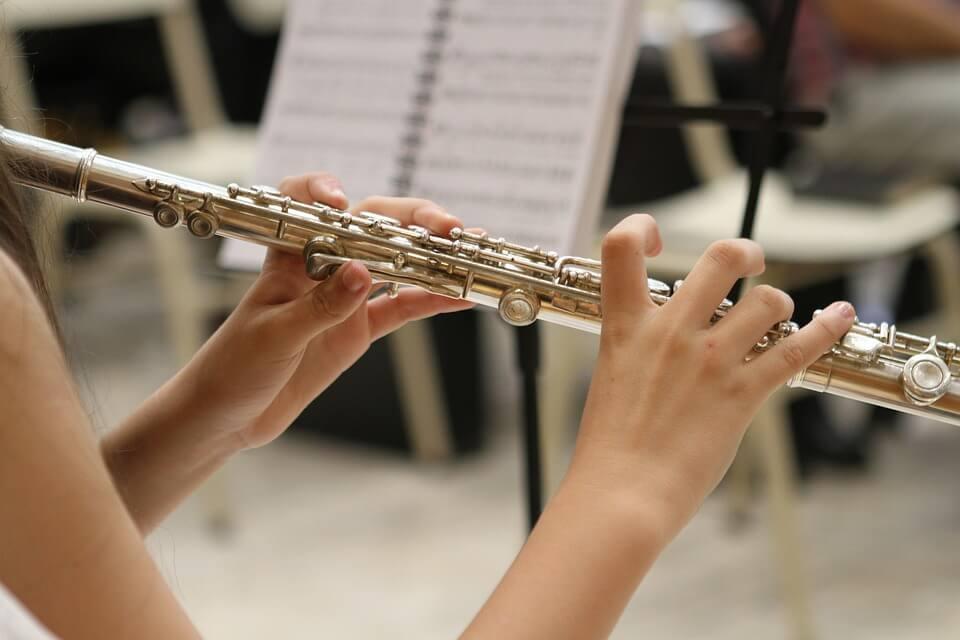 Flautist on a concert