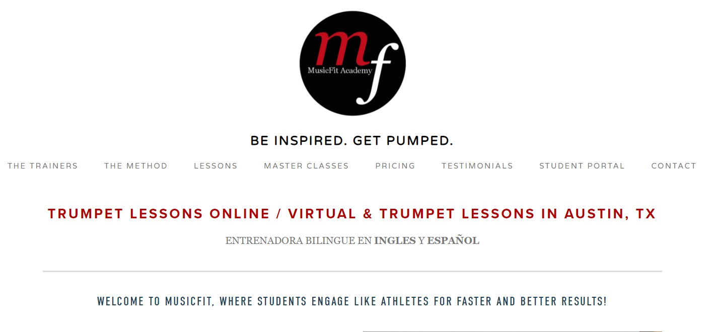 MusicFit academy for learnint the trumpet online