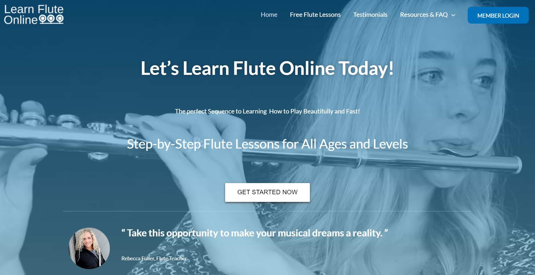Learn Flute Online with Rebecca Fuller