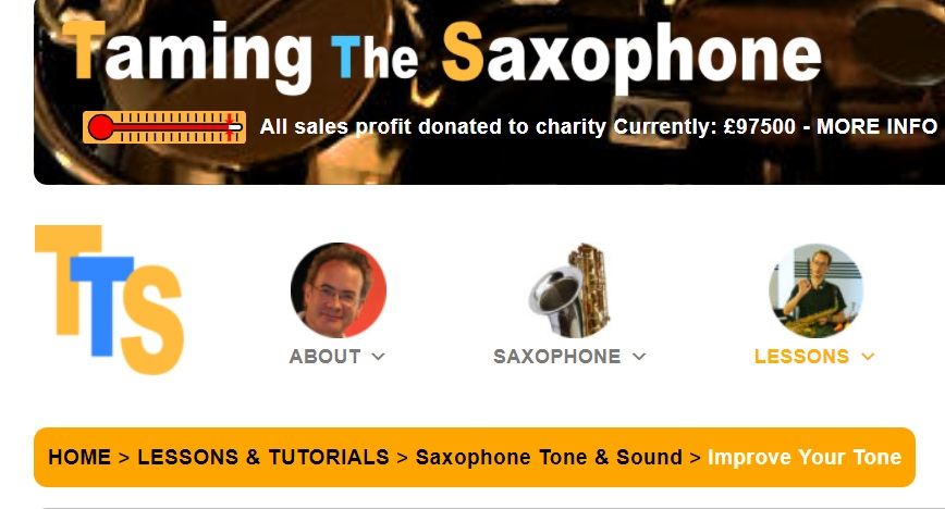 Taming the Saxophone Online Learning Website