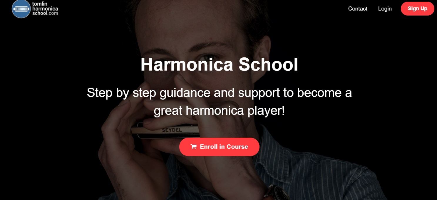 Harmonica School online lessons with Tomlin Leckie