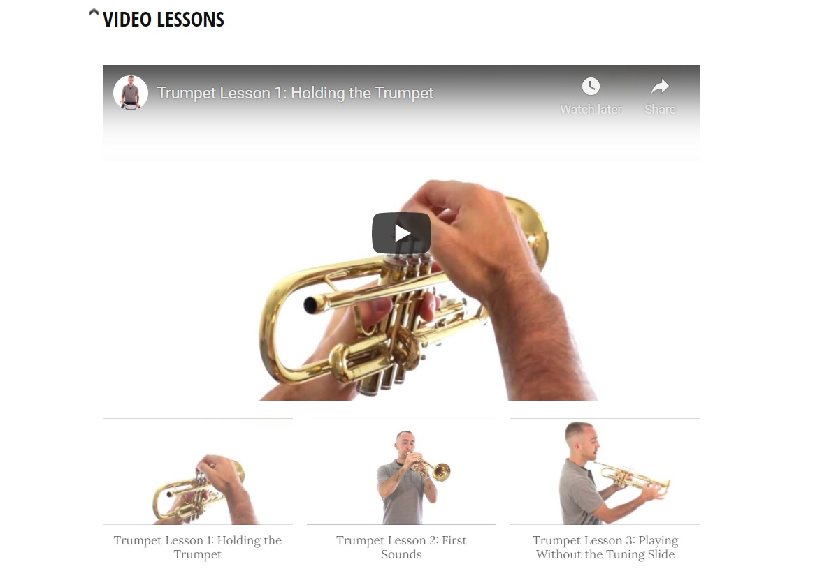 Basic Band with free online trumpet lessons for beginners