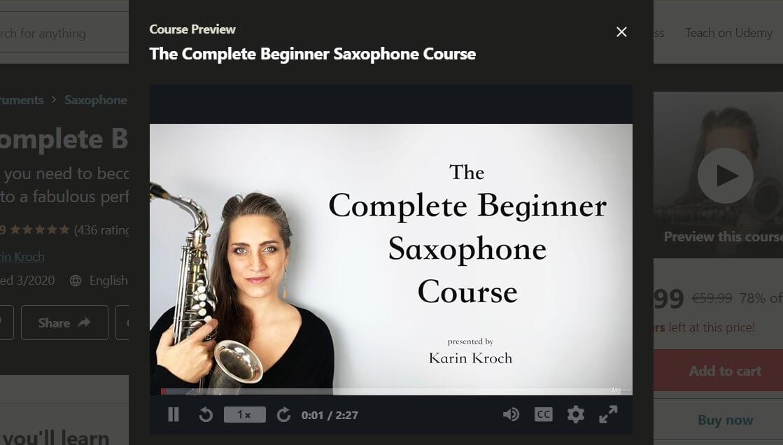 Udemy Complete Beginner Saxophone Course