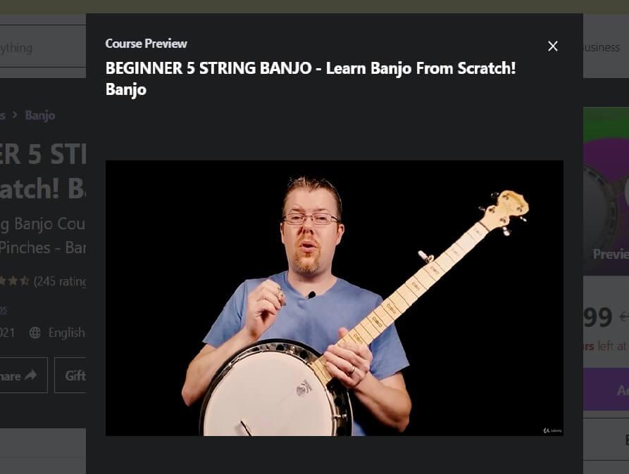 Udemy online banjo lessons