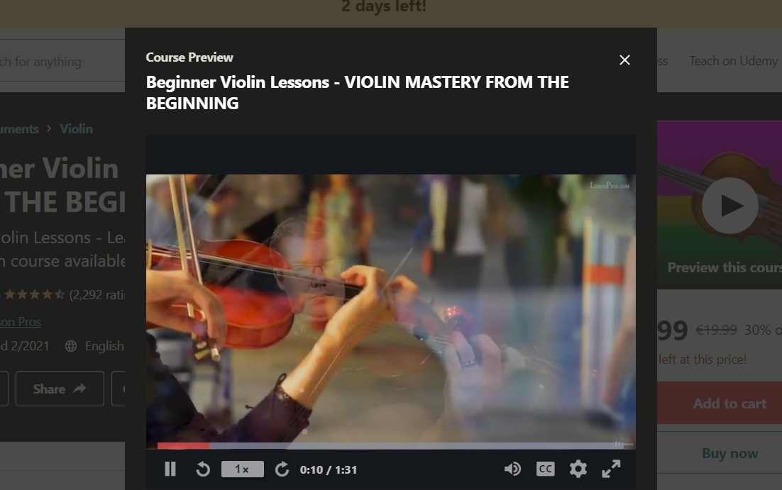 Udemy Beginner Violin Lesson Violin Mastery From the Beginning online course