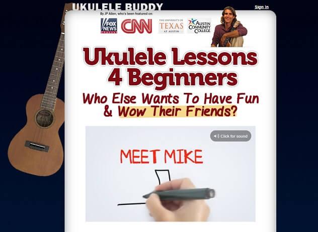 Ukulele Buddy website offering best ukulele lessons for beginners